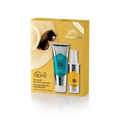 SOLARIUM kit protezione spf 50  viso corpo doposole pelli sensibili